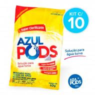 Super Clarificante para Piscinas Azul Pods - Kit com 10 - Maresias