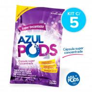 Super Decantador para Piscinas Azul Pods 50 ml - Kit com 5 - Maresias
