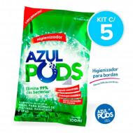 Higienizador para Spa e Piscinas Azul Pods Maresias - Kit com 5 - Maresias