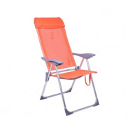 Cadeira Praia 5 posições Laranja Bel Fix