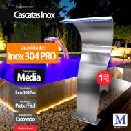Cascata para Piscina Canyon Média com Led 304 Pro