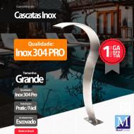 Cascata Slim Grande Aço Inox 304 Pro