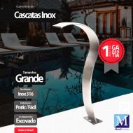 Cascata Slim Grande Aço Inox 316 Premium Pro