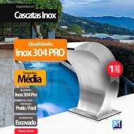 Cascata Vitoria Média Aço Inox 304 Pro