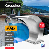 Cascata Vitoria Média Aço Inox 316 Premium Pro