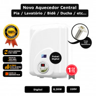Aquecedor central Digital banheiros 220v / 8,2kw Cardal