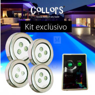 Kit Collors up 4 led colorido + 1 caixa de comando