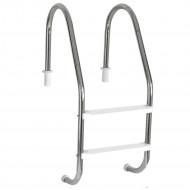 Escada para piscinas Tradicional - Sodramar - 2 Degraus Anatômicos em ABS