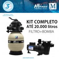 Kit Filtro Bomba para piscinas de até 20.000 litros