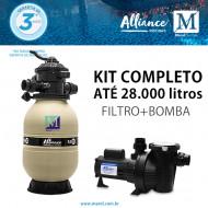 Kit Filtro Bomba para piscinas de até 28.000 litros