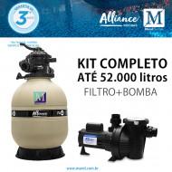 Kit Filtro Bomba para piscinas de até 52.000 litros