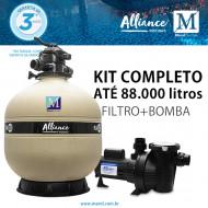 Kit Filtro Bomba para piscinas de até 88.000 litros