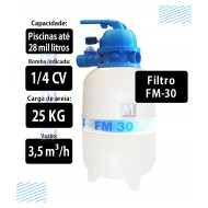 Filtro para piscina - FM100 -Sodramar