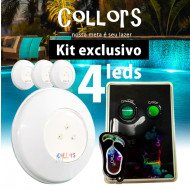 Kit Collors BLUE ABS 50  4led + 1 caixa de comando