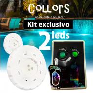 Kit Collors Blue Solução 2 led colorido + 1 caixa de comando