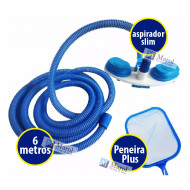 Kit Limpeza Piscina Inflável Above Ground Mangueira 6m Sodramar