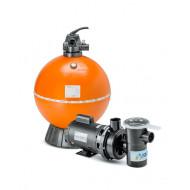 Kit Filtro e bomba para piscinas - Nautilus - F750p e NBF5 - 1,5CV
