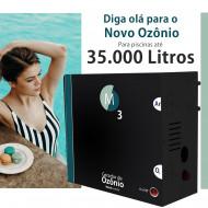 Ozônio para piscina até 35.000 litros O3M tratamento sem cloro