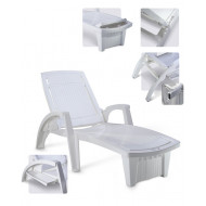 Espreguiçadeira - 4 posições - Pisani Sole - plástico Branca