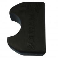Ponteira plástica preta para degrau inox reto 2 peças Sodramar