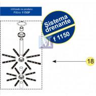 Sistema Drenante Completo para filtro F1150 Nautilus