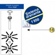 Sistema Drenante Completo para filtro F950 Nautilus