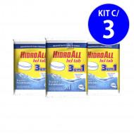 Cloro Tablete HCL 3 EM 1 Multiação 200gr Hidroall - kit c/ 3