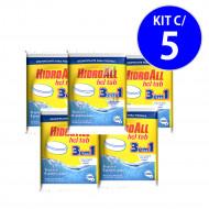 Cloro Tablete HCL 3 EM 1 Multiação 200gr Hidroall - kit c/ 5