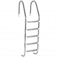 Escada para piscinas Tradicional - Sodramar - 5 Degraus Anatômicos em Inox (Padrão)