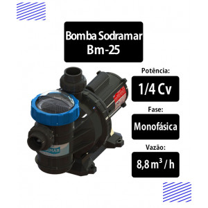 Bomba para piscinas 1/4 CV BM-25 Sodramar