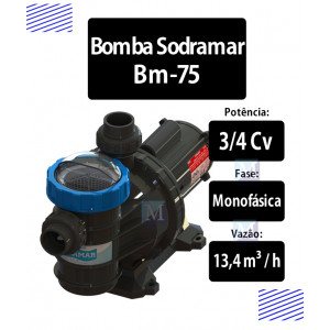 Bomba para piscinas 3/4 CV (BM-75) - Sodramar