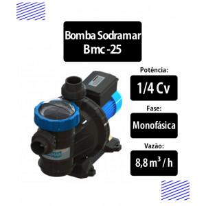 Bomba para piscinas 1/4 CV BMC-25 Monofásica Sodramar