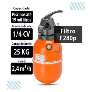 Filtro F280p para Piscinas até 19 mil Litros  Nautilus