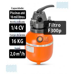 Filtro F300P para piscinas até 16 mil Litros Nautilus