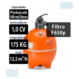 Filtro F650P para Piscinas até 100Mil Litros Nautilus