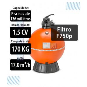 Filtro F750P para Piscinas até 136 mil Litros  Nautilus