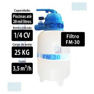 Filtro para piscinas até 28 mil Litros FM30 Sodramar