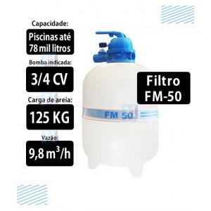 Filtro para piscinas até 78 mil Litros FM50 Sodramar