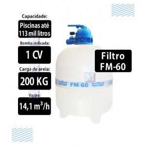 Filtro para piscinas até 113 mil Litros FM60 Sodramar