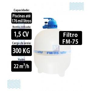Filtro para piscinas até 176 mil Litros FM75 Sodramar