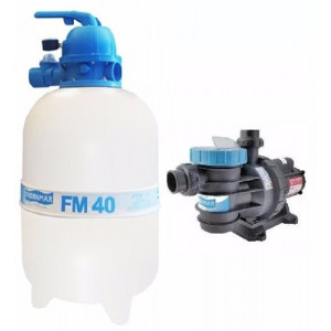 Kit Filtro FM-40 e Bomba 1/2 CV (Bmc-50) para piscinas de até 50.000 Litros - Sodramar