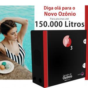 Ozônio para piscina até 150.000 litros O3M tratamento sem cloro