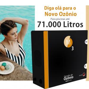 Ozônio para piscina até 70.000 litros O3M tratamento sem cloro