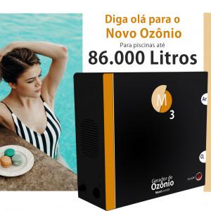 Ozônio para piscina até 85.000 litros O3M tratamento sem cloro